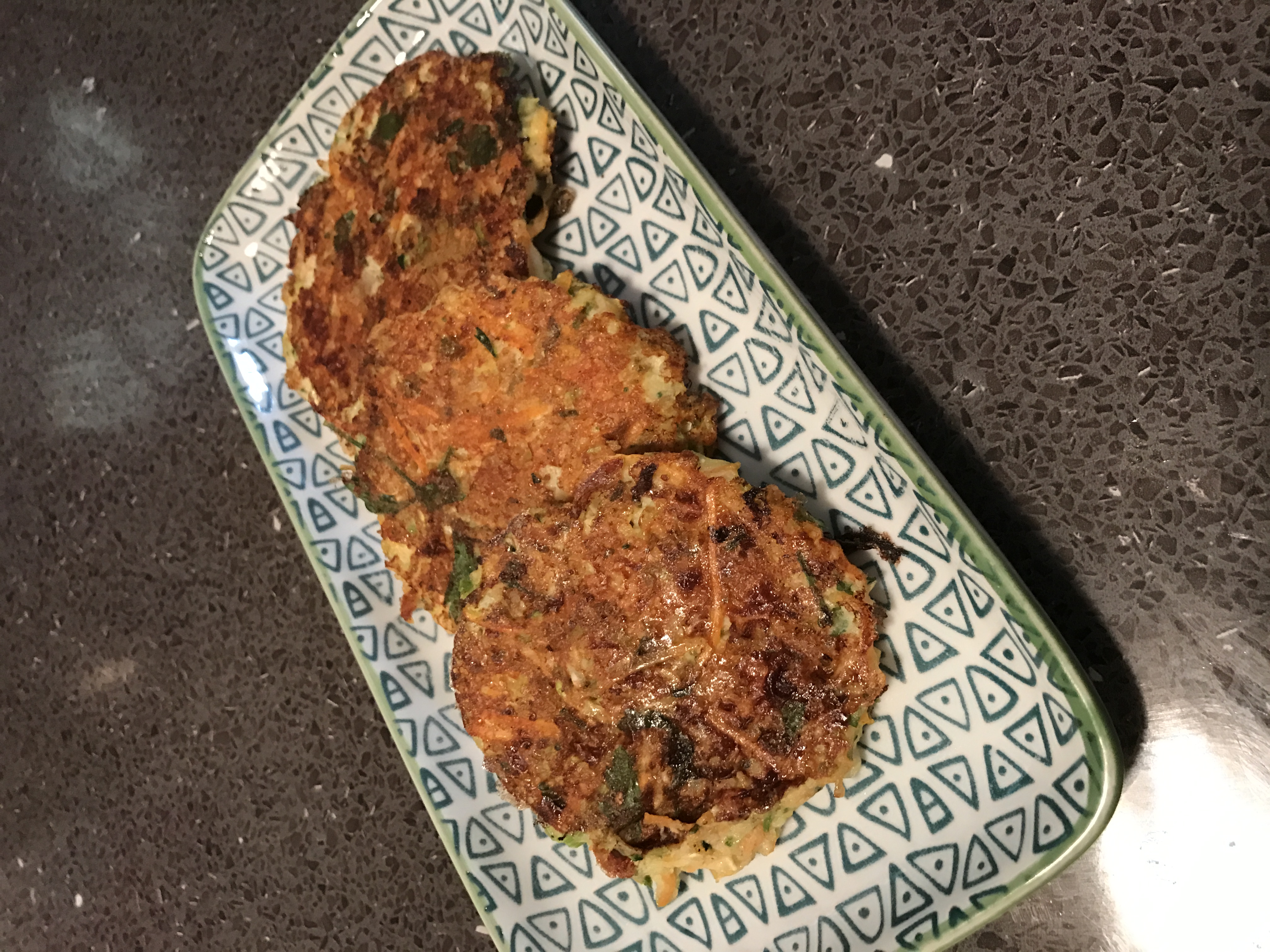 Protein Enriched Veggie Fritters